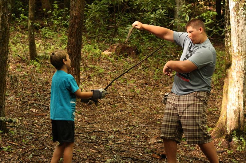 Forest sword fighting