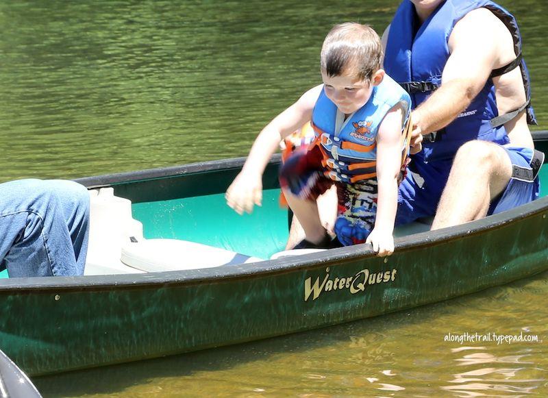 Canoeing at lake