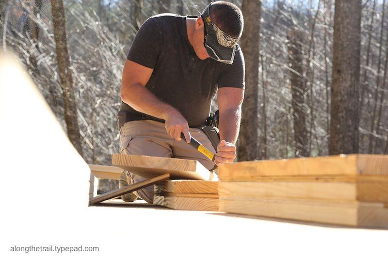 Volunteer Cabin Build 11