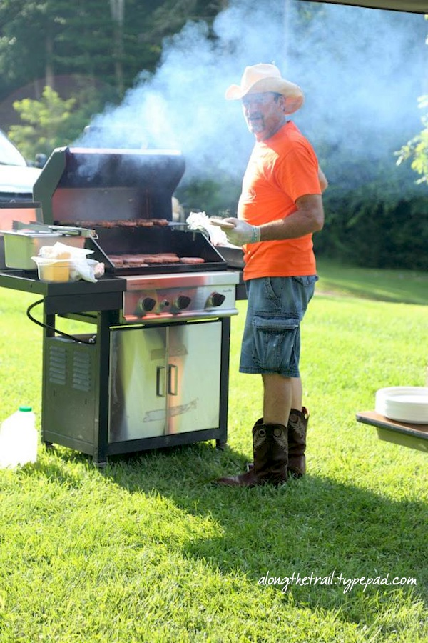 Marty grilling