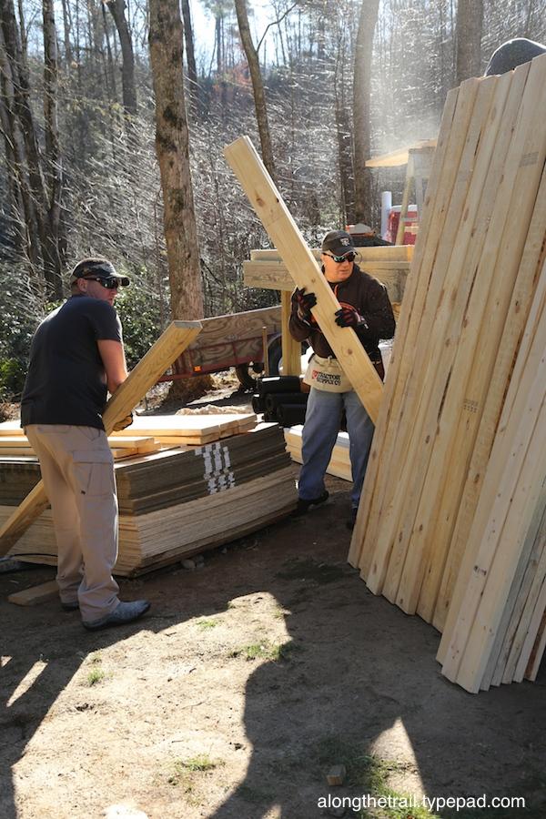 Volunteer Cabin Build 7