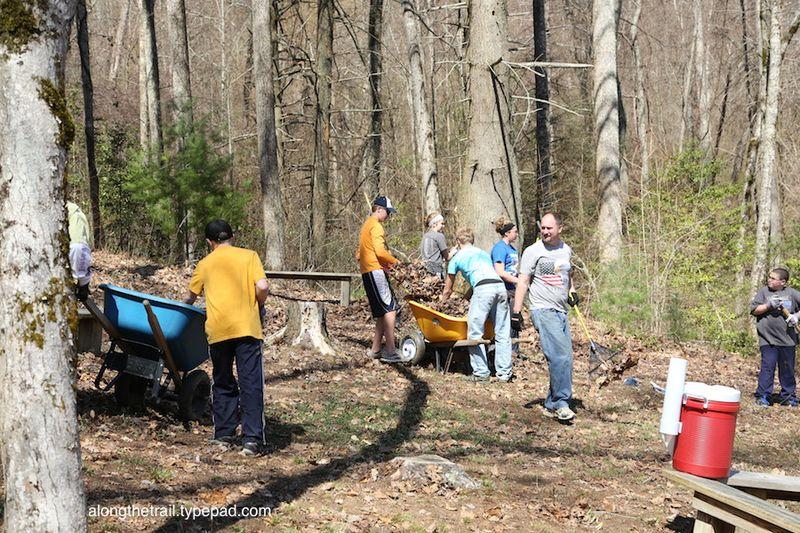 Work Team at Whisper Mountain Camp 1