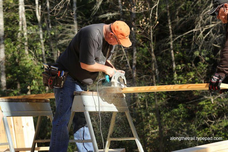 Volunteer Cabin Build 8