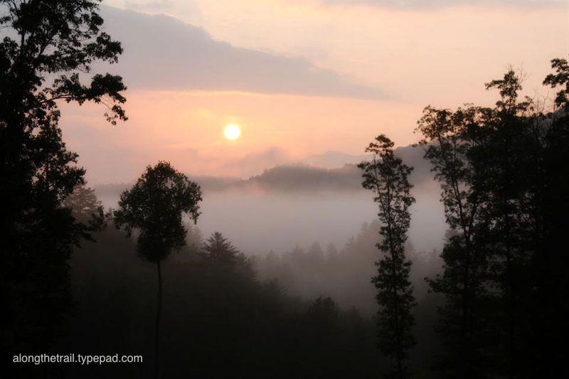 Whisper Mountain sunrise view
