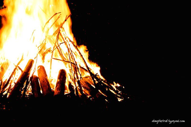 Whisper mountain camp bonfire