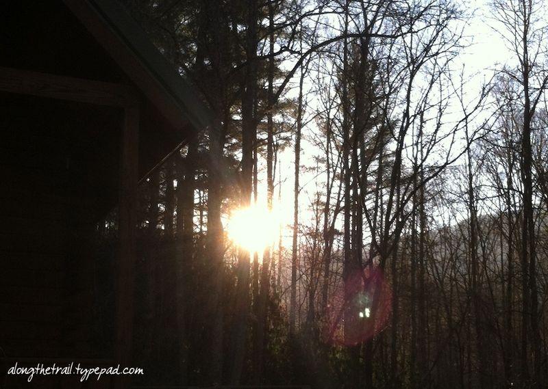 Whisper mountain camp morning sun